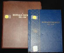2 Buffalo Nickel books: 1913-1938 partially filled