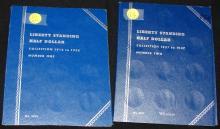 2 books Liberty Standing Half Dollar Collection