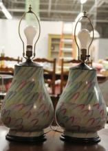 Pair Chinese Porcelain Vase Lamps