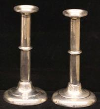 Pair Antique Sterling Silver Candlesticks
