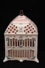 Vintage Hand Painted Porcelain Birdcage