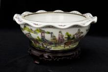 Chinese Famille Rose Porcelain Bowl Mark QianLong