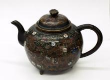 Antique Japanese Cloisonne Tea Pot