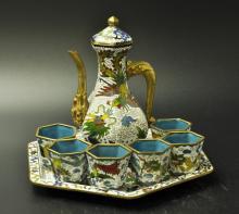 Chinese Cloisonne Tea Set