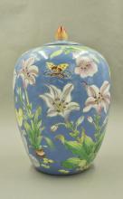 Qing Qianlong Mark Fancai Jar with Lid