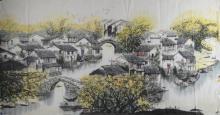 Jiang Nan Chinese Water Colour Landscape Painting