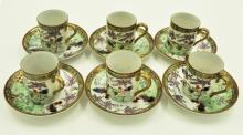 End of Qing Early Republic Export Gilt Cups
