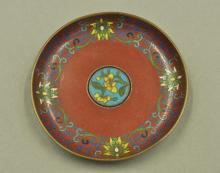 Chinese Qing Period Red Ground Plate