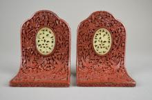 Chinese Republic Lacquer And Jade Book Stands