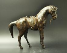 Horse Statue with Cow Skin