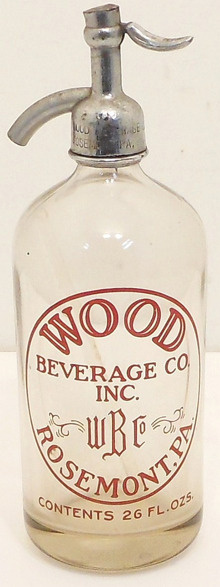 Vintage Wood Beverage Siphon Seltzer Bottle