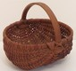 Vintage Small Buttock Basket