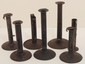 Seven Antique Hog Scraper Pushup Candle Holders
