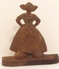 Albany-Grey Dutch Girl Cast Iron Doorstop