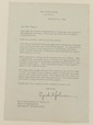 White House letter signed Lyndon Johnson