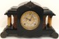 Faux Marble Column Mantel Clock