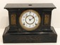 Ansonia Enameled Iron Black  Mantel Clock