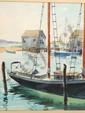 Watercolor Lester M. Peterson Docked Boats