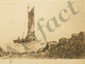 Etching Departing Sailboat