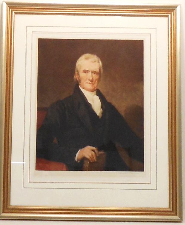 Lithograph T. Hamilton Crawford John Marshall