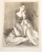 Litho Moses Soyer Seated Dancer