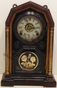 Welch Rosewood Globe Mantel Clock