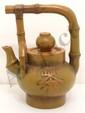 Bamboo Basket Yixing Clay  Teapot