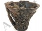 Hand Carved Horn Libation Cup #4