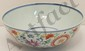 18-19th C. Famille Verte Porcelain 'Good Luck' Bowl