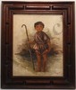 A.V. Menchaca Oil On Canvas Shepherd Boy