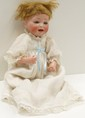 German Bisque Head Baby Doll 12 1/2