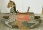 Folk Art Painted European Wooden Rocking Horse