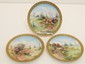 Lot of 3 European Hand Painted Porcelain Plates