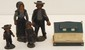 Vintage Cast Iron Amish Family & Banthrico Bank