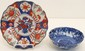 Imari Plate and Blue & White Scalloped Bowl