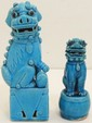 Two Porcelain Foo Dogs Statues