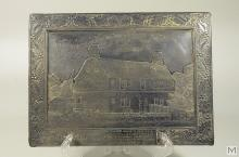 Silvered Plaque: The Oldest House in America