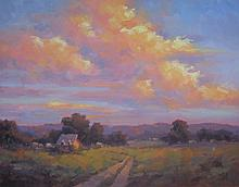 Evening Sky, oil painting by Sally O'Neill