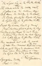 Poet RICHARD WATSON GILDER - Autograph Poem Signed