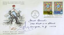 Surrealist Painter SALVADOR DALI - Postal Cover Signed