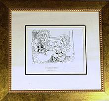 Spanish Artist PABLO PICASSO - Ltd Ed Litho Signed
