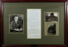 Berlin Airlift Gen LUCIUS CLAY - Transcript Signed, Framed