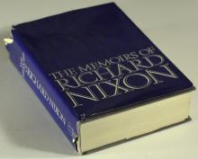 Pres RICHARD NIXON - His Memoirs, 1st Printing Signed