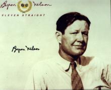 Lord Byron Golfer BYRON NELSON - Photo Signed
