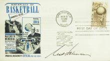 CCNY Coach NAT HOLMAN - Postal Cover Signed