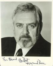 Perry Mason Actor RAYMOND BURR - Photo Signed