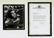Actress, Singer JUDY GARLAND - Contarct Signed, Framed