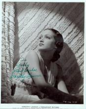 Actress DOROTHY LAMOUR - Movie Still Signed