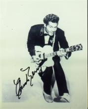 Rock Singer CHUCK BERRY - Photo Signed