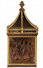 RELIGIOUS CARVING - The Lamentation of Christ, an 18th c